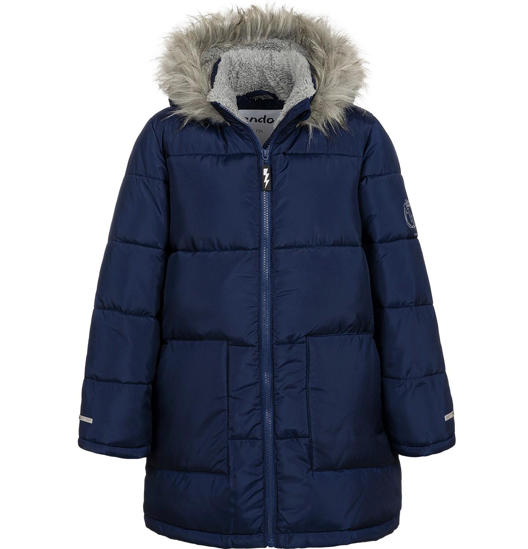 Endo - Długa kurtka zimowa dla chłopca, granatowa, 9-13 lat C04A004_3