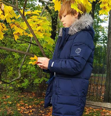 Endo - Długa kurtka zimowa dla chłopca, granatowa, 9-13 lat C04A004_3 7