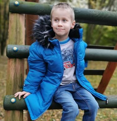 Endo - Długa kurtka zimowa dla chłopca, niebieska, 2-8 lat C04A014_1 3