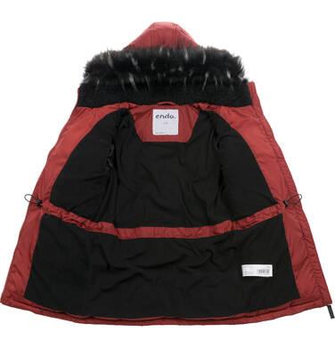 Endo - Długa kurtka zimowa dla chłopca, ceglany pomarańczowy, 2-8 lat C04A014_2,3