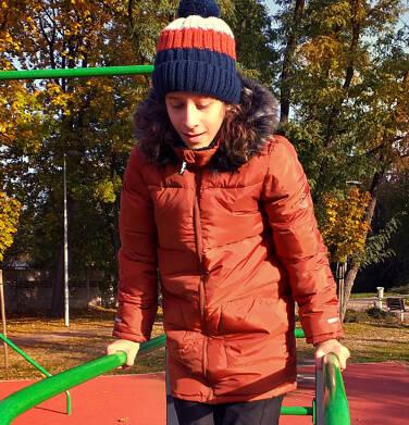Endo - Długa kurtka zimowa dla chłopca, ceglany pomarańczowy, 2-8 lat C04A014_2,4