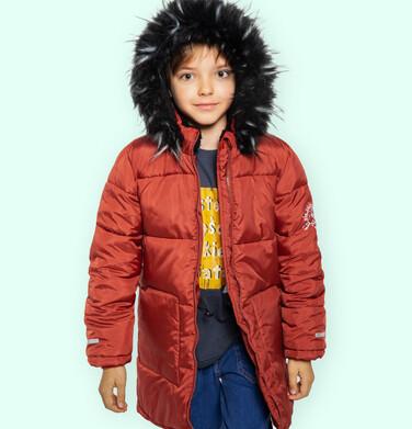 Endo - Długa kurtka zimowa dla chłopca, ceglany pomarańczowy, 2-8 lat C04A014_2 19
