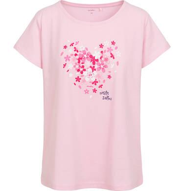 Endo - Damska piżama z krótkim rękawem, w kwiatki, z napisem niezłe ziółko, różowa Y06V005_1 4