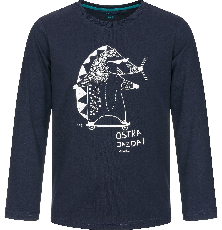 Endo - T-shirt z długim rękawem dla chłopca 9-13 lat C92G533_1