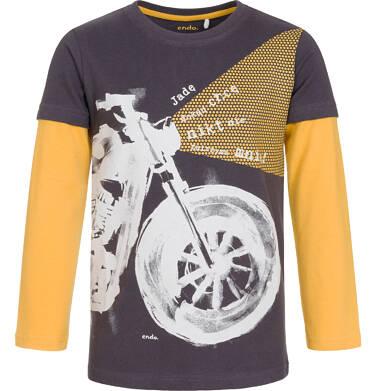 Endo - T-shirt z długim rękawem dla chłopca 9-13 lat C92G561_1