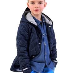 Pikowana kurtka z kapturem dla chłopca 9-13 lat C71A503_1