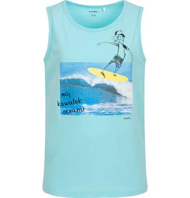Endo - Koszulka bez rękawów dla chłopca, z surferem, niebieska, 9-13 lat C06G060_1 201