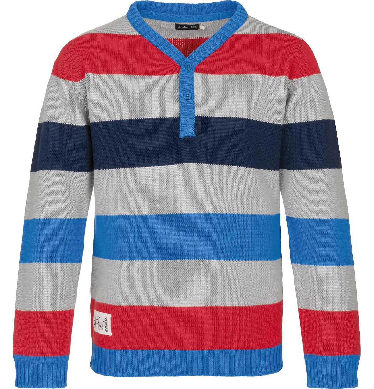 Endo - Sweter z zapięciem pod szyją dla chłopca 3-8 lat C91B005_1