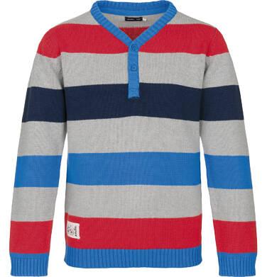 Sweter z zapięciem pod szyją dla chłopca 3-8 lat C91B005_1