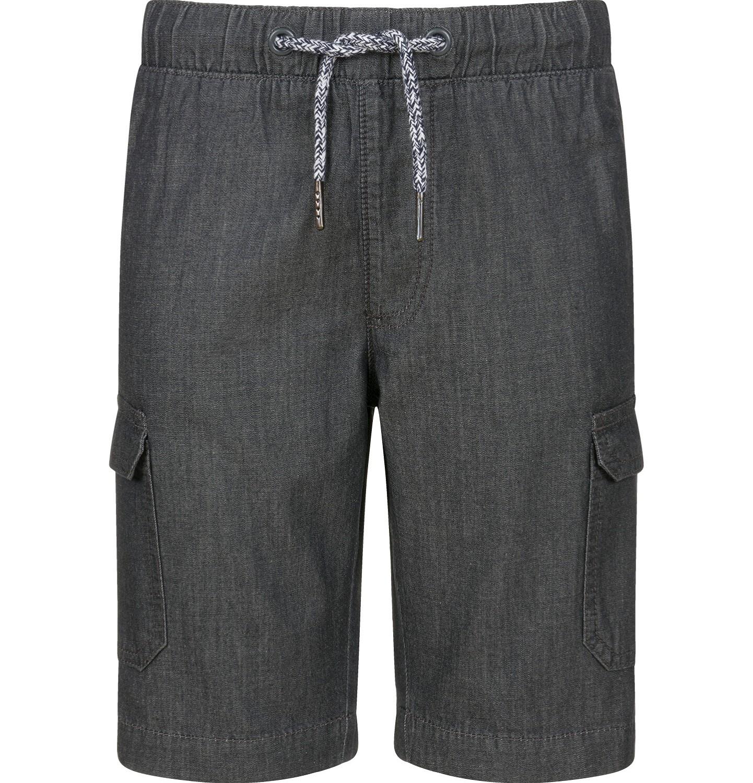 Endo - Krótkie spodenki jeansowe dla chlopca, z kieszeniami, grafitowe, 2-8 lat C03K057_1
