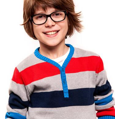 Endo - Sweter z zapięciem pod szyją dla chłopca 9-13 lat C91B505_1,2