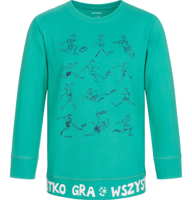 Endo - T-shirt z długim rękawem dla chłopca, wszystko gra, zielony, 9-13 lat C92G530_1