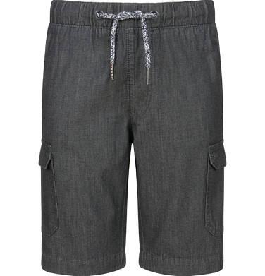 Krótkie spodenki jeansowe dla chłopca, z kieszeniami, grafitowe, 9-13 lat C03K557_1