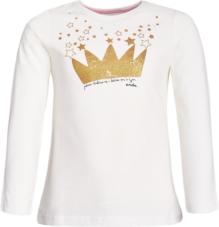 """Endo - """"Jestem królewną i dobrze mi z tym"""" T-shirt z długim rękawem dla dziewczynki 3-8 lat D82G044_1"""