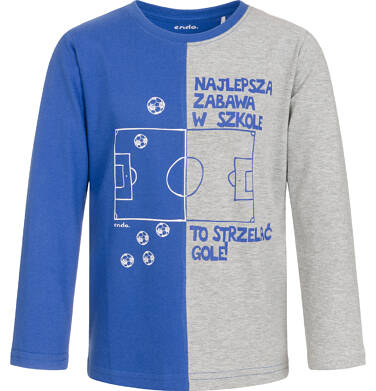 Endo - T-shirt z długim rękawem dla chłopca, zabawa w szkole, dwukolorowy, 9-13 lat C92G529_1 23