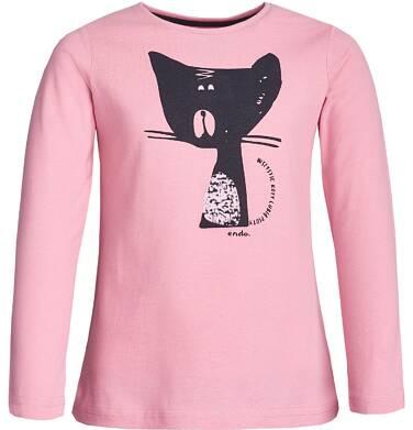 """Endo - """"Wszystkie koty lubią psoty"""" T-shirt z długim rękawem dla dziewczynki 3-8 lat D82G046_1"""