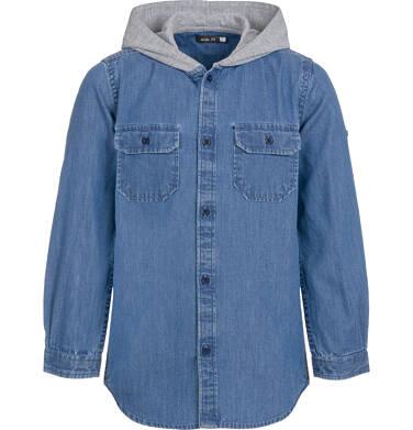 Koszula jeansowa z kapturem dla chłopca 9-13 lat C92F502_1