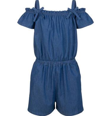 Endo - Kombinezon z krótkim rękawem i odsłoniętymi ramionami, jeansowy, 9-13 lat D03H549_1