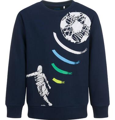 Bluza dla chłopca, z piłkarzem, granatowa, 9-13 lat C04C005_1
