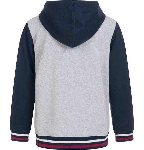 Rozpinana bluza z kapturem dla chłopca, dwukolorowa, 9 13 lat