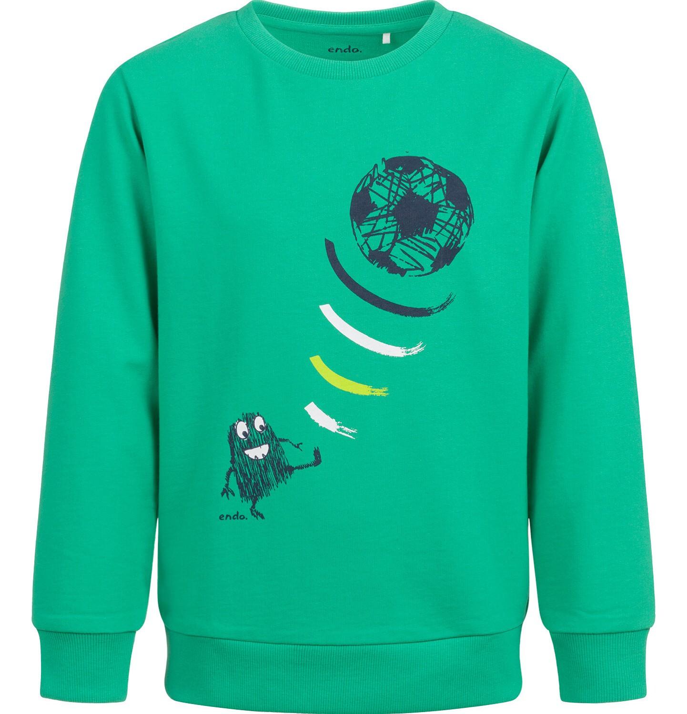 Endo - Bluza dla chłopca, z piłką, zielona, 2-8 lat C04C010_1