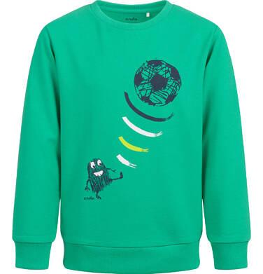 Bluza dla chłopca, z piłką, zielona, 2-8 lat C04C010_1