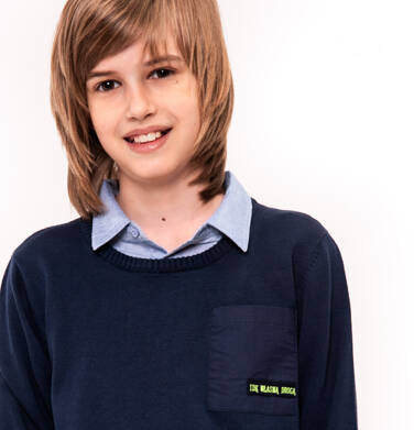Endo - Sweter z kieszonką dla chłopca 9-13 lat C91B508_1
