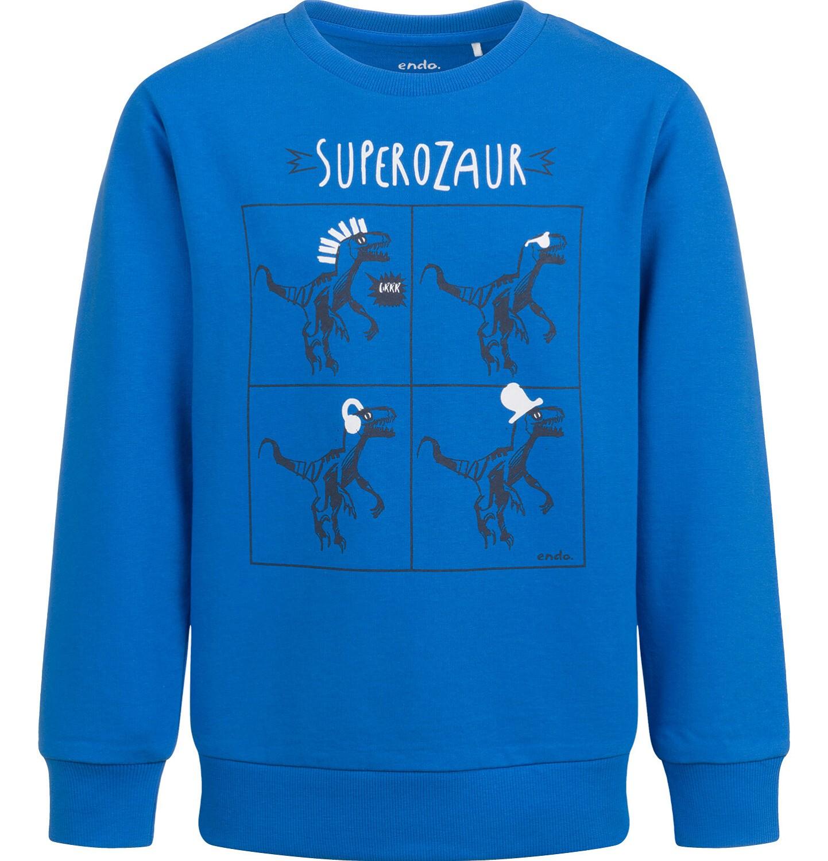 Endo - Bluza dla chłopca, z dinozaurem, niebieska, 9-13  lat C04C034_1