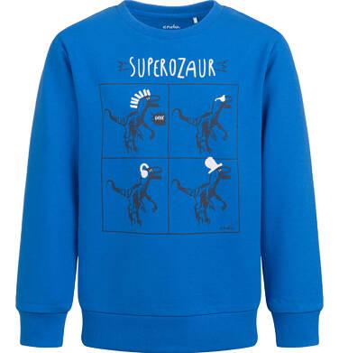 Bluza dla chłopca, z dinozaurem, niebieska, 9-13  lat C04C034_1