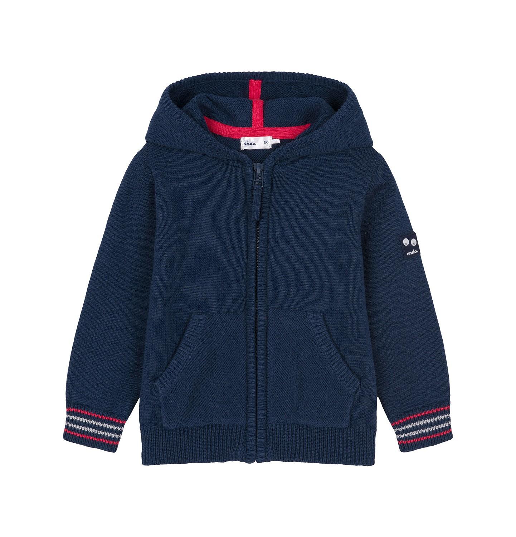 Endo - Sweter rozpinany z kapturem dla dziecka 0-3 lata N91B001_1