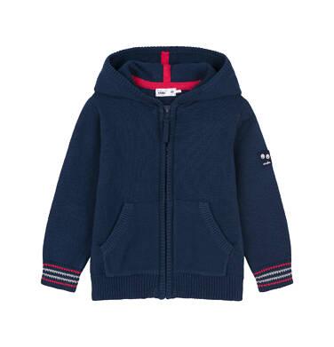 Sweter rozpinany z kapturem dla dziecka 0-3 lata N91B001_1