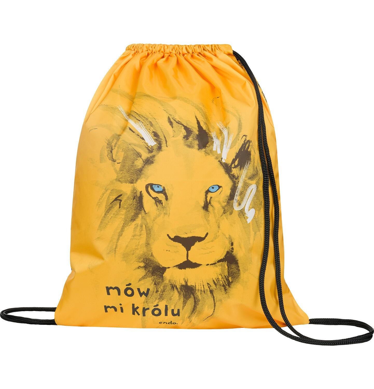 Endo - Worek - plecak, zółty, z lwem SD03G004_1