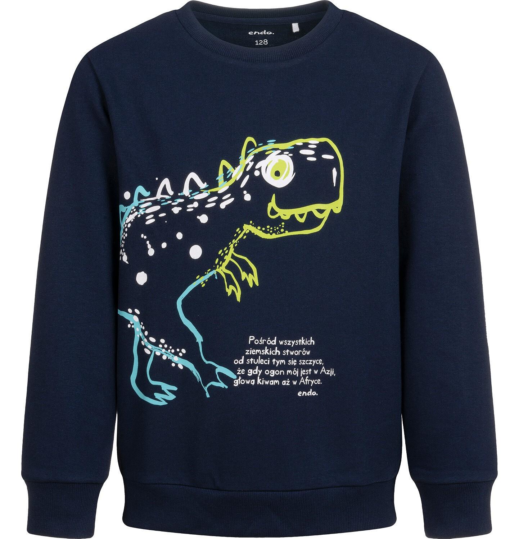 Endo - Bluza dla chłopca, z dinozaurem, granatowa, 2-8 lat C04C057_1