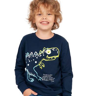Endo - Bluza dla chłopca, z dinozaurem, granatowa, 2-8 lat C04C057_1 1