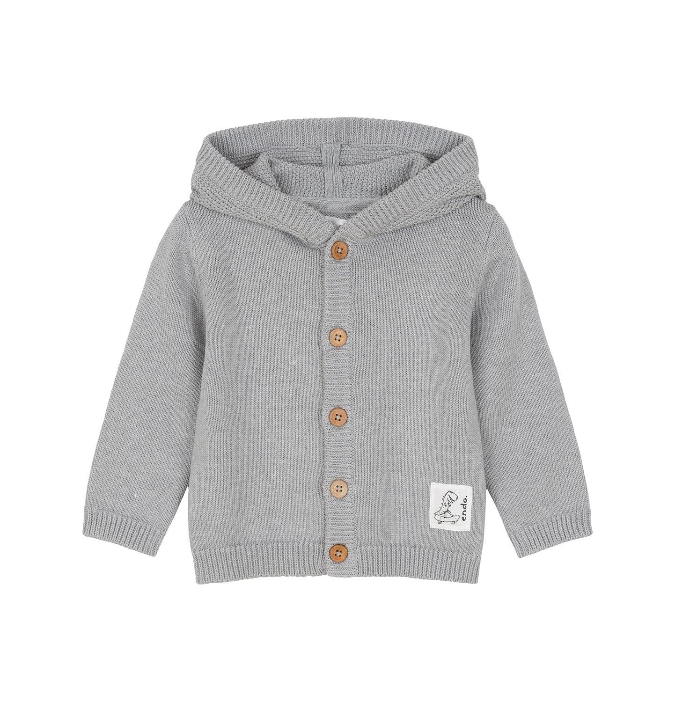 Endo - Sweter rozpinany z kapturem dla dziecka 0-3 lata N91B002_1