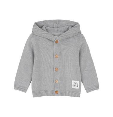 Sweter rozpinany z kapturem dla dziecka 0-3 lata N91B002_1