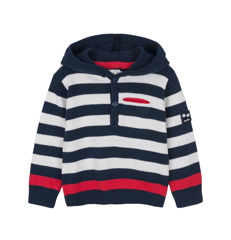 Endo - Sweter rozpinany z kapturem dla dziecka 0-3 lata N91B003_1