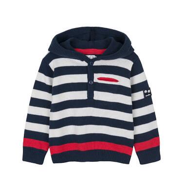 Sweter rozpinany z kapturem dla dziecka 0-3 lata N91B003_1