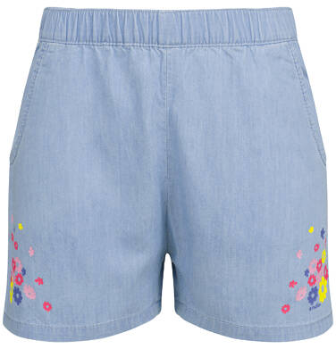 Endo - Krótkie spodenki jeansowe dla dziewczynki, kwiatowy motyw, 2-8 lat D03K032_1 2