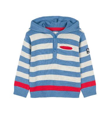Sweter rozpinany z kapturem dla dziecka 0-3 lata N91B003_2