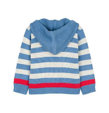 Endo - Sweter rozpinany z kapturem dla dziecka 0-3 lata N91B003_2