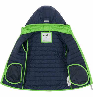 Endo - Pikowana kurtka wiosenna dla chłopca, granatowa, 2-8 lat C03A006_1