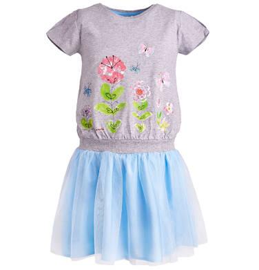 Endo - Sukienka z tiulowym dołem dla dziewczynki 3-8 lat D81H022_1