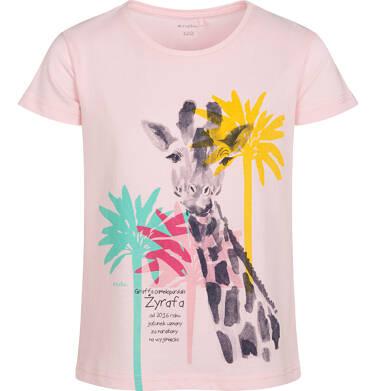 Endo - T shirt z krótkim rękawem dla dziewczynki, z żyrafą, różowy, 2-8 lat D05G117_1 11