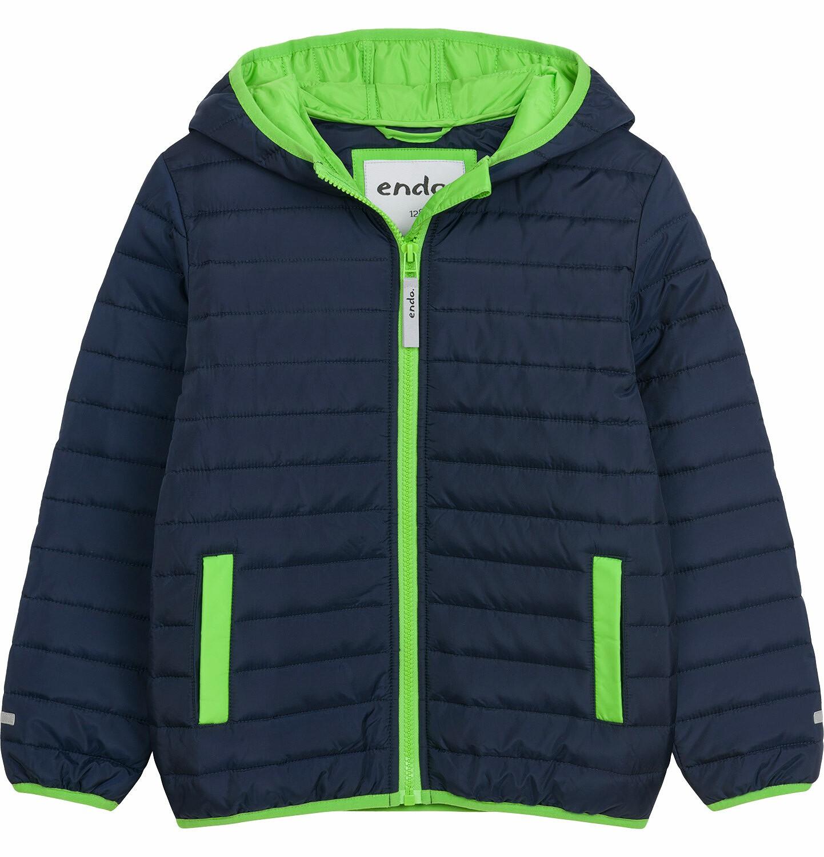 Endo - Pikowana kurtka przejściowa dla chłopca, granatowa, 9-13 lat C03A506_1