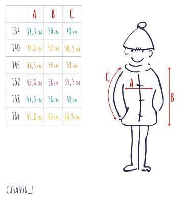 Endo - Pikowana kurtka przejściowa dla chłopca, granatowa, 9-13 lat C03A506_1,3