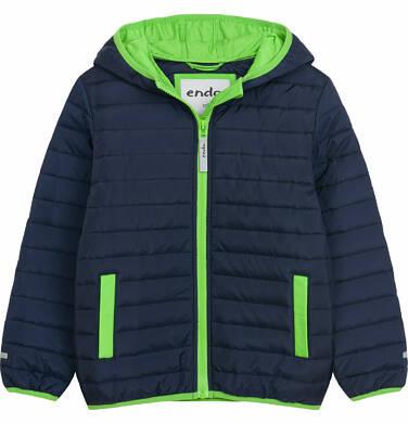 Pikowana kurtka wiosenna dla chłopca, granatowa, 9-13 lat C03A506_1