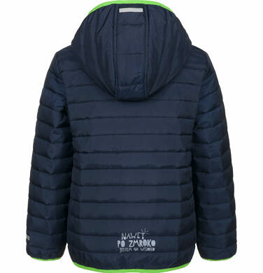 Endo - Pikowana kurtka przejściowa dla chłopca, granatowa, 9-13 lat C03A506_1,2