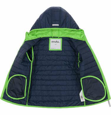 Endo - Pikowana kurtka wiosenna dla chłopca, granatowa, 9-13 lat C03A506_1