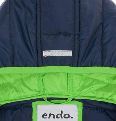 Endo - Pikowana kurtka przejściowa dla chłopca, granatowa, 9-13 lat C03A506_1,5